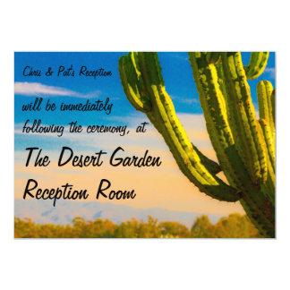 Recepción del desierto del cactus del Saguaro de Invitación 12,7 X 17,8 Cm