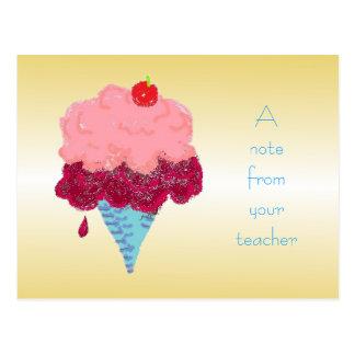 Postal Recepción del estudiante del helado de la postal