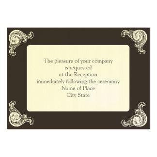 recepción elegante tarjetas de visita grandes