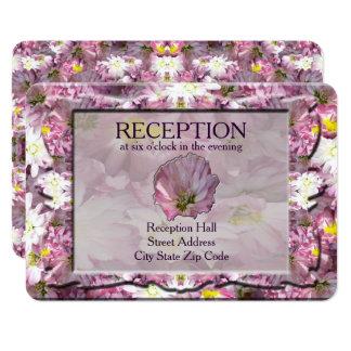 Recepción floral de color de malva del Victorian Invitación 8,9 X 12,7 Cm