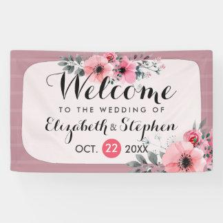 Recepción floral del boda de la escritura de la