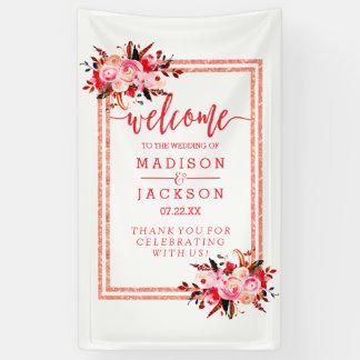 Recepción floral del melocotón y del boda de la