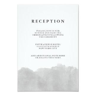 Recepción gris moderna minimalista de la acuarela invitación 8,9 x 12,7 cm