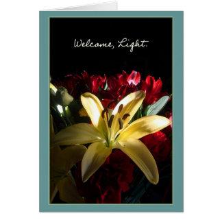 Recepción, luz/Bienvenida, luz Tarjeta De Felicitación
