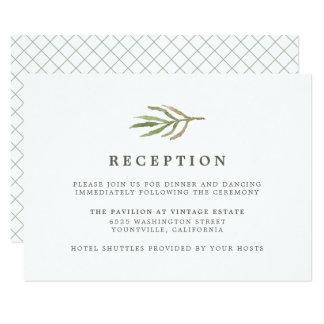 Recepción nupcial botánica de la acuarela del invitación 8,9 x 12,7 cm