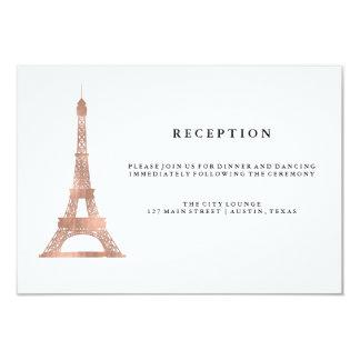 Recepción nupcial color de rosa elegante de la invitación 8,9 x 12,7 cm