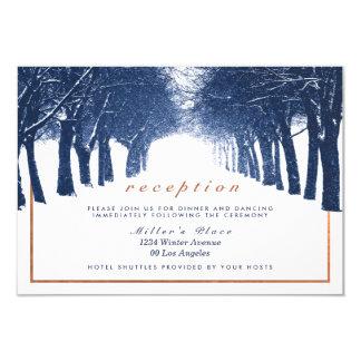 Recepción nupcial de cobre de la avenida de los invitación 8,9 x 12,7 cm