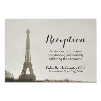 Recepción nupcial de la torre Eiffel de París del Invitación 8,9 X 12,7 Cm
