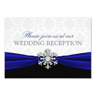 Recepción nupcial del invierno de Blue Ribbon Invitación 8,9 X 12,7 Cm