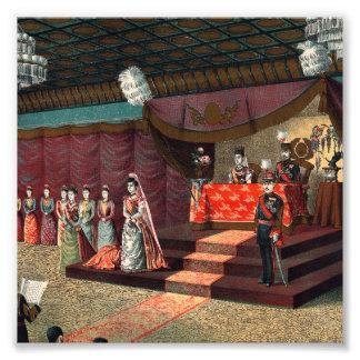 Recepción nupcial del Príncipe heredero Yoshihito Impresiones Fotográficas