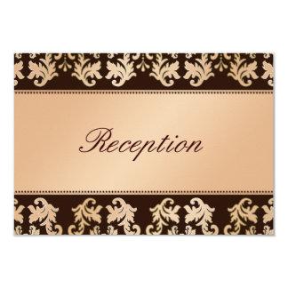Recepción nupcial elegante del ensueño del otoño invitación 8,9 x 12,7 cm