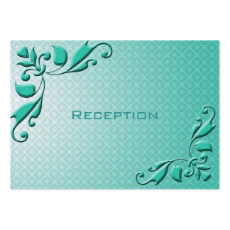 Recepción nupcial floral decorativa del trullo tarjetas de visita