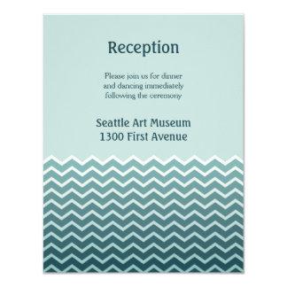 Recepción nupcial invitación 10,8 x 13,9 cm
