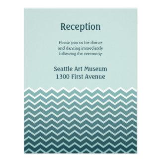 Recepción nupcial invitaciones personalizada