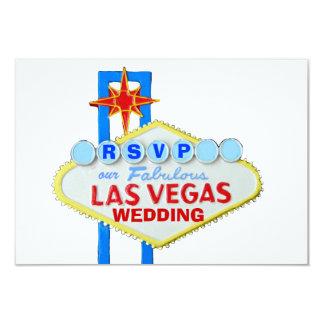 Recepción nupcial Las Vegas de RSVP Invitación 8,9 X 12,7 Cm