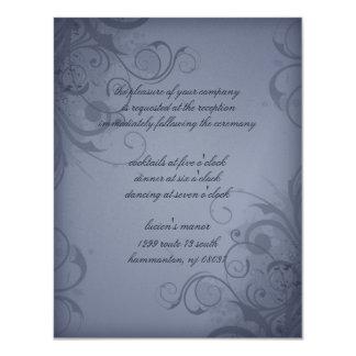 Recepción nupcial metálica del invierno del invitación 10,8 x 13,9 cm