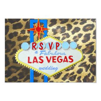 Recepción nupcial RSVP de Las Vegas Invitación 8,9 X 12,7 Cm