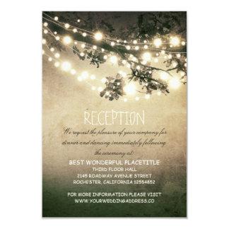 recepción nupcial rústica de las ramas y de las invitación