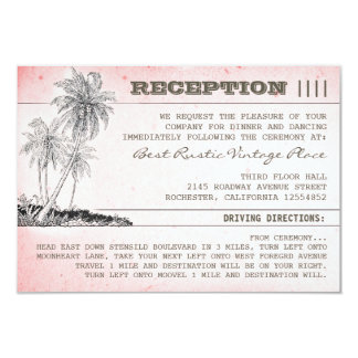 recepción nupcial tropical de la playa de las invitación 8,9 x 12,7 cm