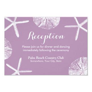 Recepción nupcial violeta del dólar de las invitación 8,9 x 12,7 cm