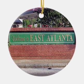 Recepción ornamento del navidad de Atlanta del Adorno Navideño Redondo De Cerámica