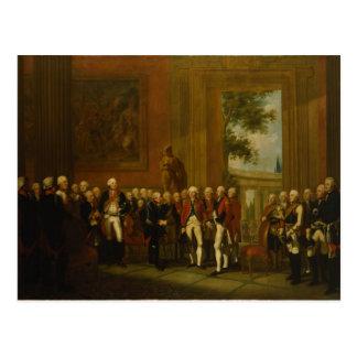 Recepción para el duque de York en Sanssouci Tarjeta Postal