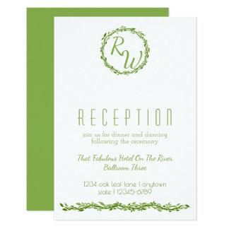 Recepción selvática Info de la vid de la elegancia Invitación 8,9 X 12,7 Cm