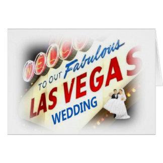 Recepción tarjeta de NUESTRO del boda LV de la nov