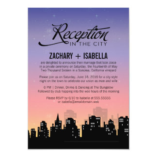 Reception in the City Wedding Reception Only Custom Invites