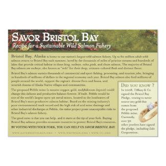Receta asada de los salmones de la bahía de invitación 12,7 x 17,8 cm