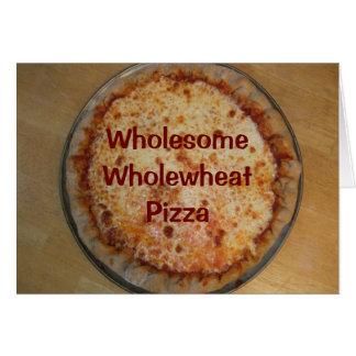 Receta de la pizza de WholesomeWholewheat Tarjeta Pequeña