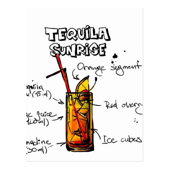 Receta del cóctel de la salida del sol del Tequila Postal