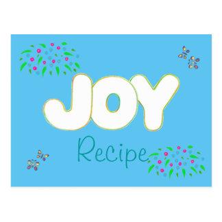 Receta para la alegría - postales coloridas de la