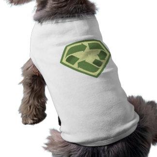 Reciclador estupendo camiseta sin mangas para perro