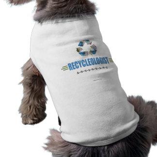 Reciclaje chistoso camiseta sin mangas para perro