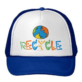 Reciclaje colorido gorros bordados