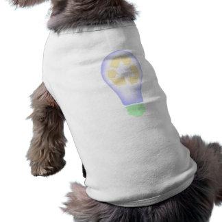 Reciclaje de la bombilla camiseta sin mangas para perro