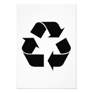 Reciclaje de símbolo invitación