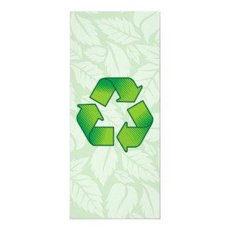 Reciclaje de símbolo invitación 10,1 x 23,5 cm