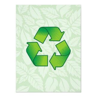 Reciclaje de símbolo invitación 16,5 x 22,2 cm