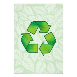 Reciclaje de símbolo invitación 8,9 x 12,7 cm