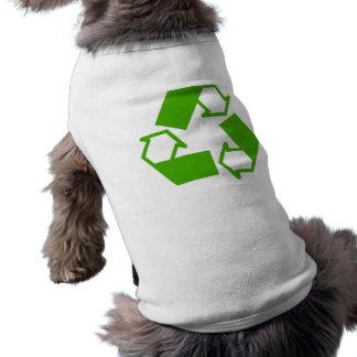 Reciclaje de símbolo camisas de mascota