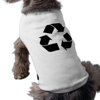 Reciclaje de símbolo camiseta de mascota