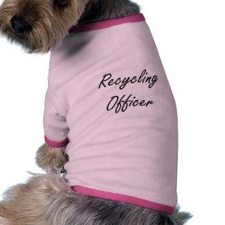 Reciclaje de sistema de trabajo artístico del camiseta con mangas para perro