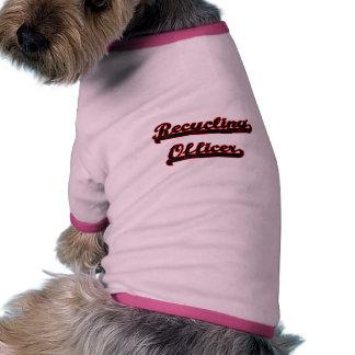 Reciclaje de sistema de trabajo clásico del camiseta con mangas para perro