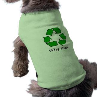 ¿Reciclaje de verde del símbolo porqué no? Camisetas De Mascota