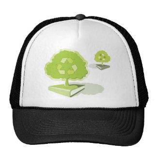 ¡Reciclaje del papel! ¡Ahorre los árboles! Gorra
