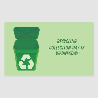 Reciclaje del pegatina del día de la colección