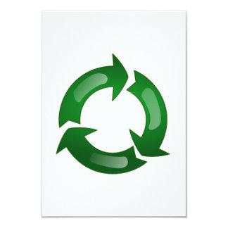 Reciclaje Invitación 8,9 X 12,7 Cm