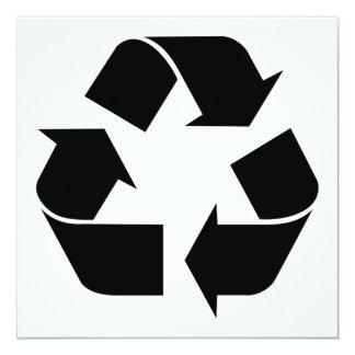 Reciclando el símbolo - negro